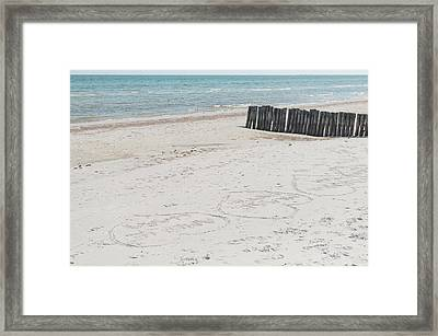 Beach Love Framed Print by Marcus Karlsson Sall