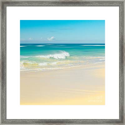 Beach Love The Secret Heart Of Wonder Framed Print by Sharon Mau