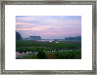 Beach Marsh Sunrise - 14 Framed Print by Donovan Hubbard