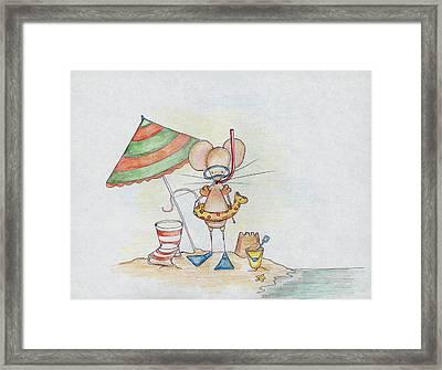 Beach Mouse Framed Print by Sarah LoCascio