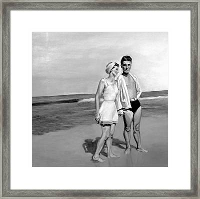Beach Framed Print by Natalie Mae Richards