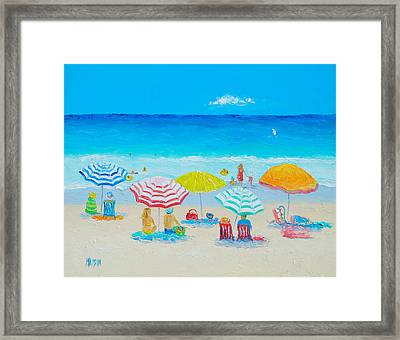 Beach Painting - Catching The Breeze Framed Print by Jan Matson