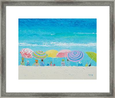 Beach Painting - Color Of Summer Framed Print by Jan Matson