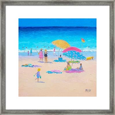 Beach Painting - Colors Of Summer  Framed Print by Jan Matson