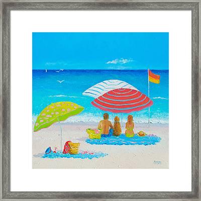 Beach Painting - Endless Summer Days Framed Print by Jan Matson