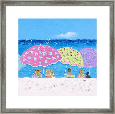 Beach Painting - Lazy Summer Days Framed Print by Jan Matson