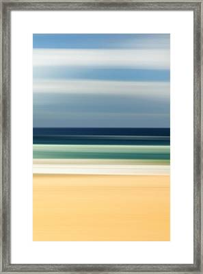 Beach Pastels Framed Print by Az Jackson