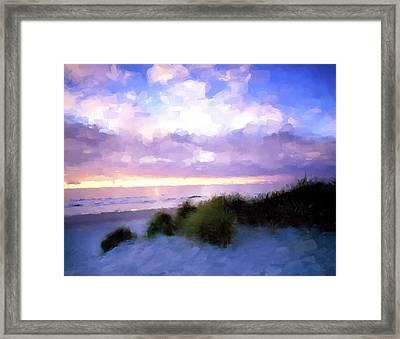 Beach Sawgrass Framed Print by Gary Grayson