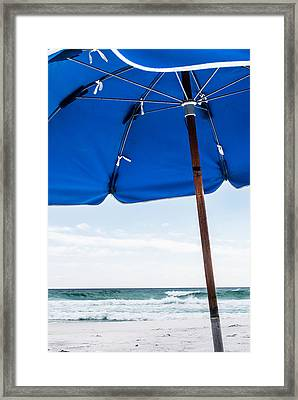Beach Scene Framed Print by Shelby  Young