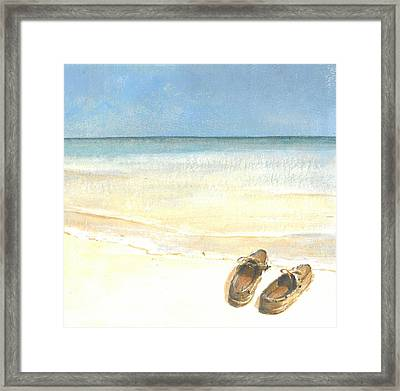 Beach Shoes Framed Print by Lincoln Seligman
