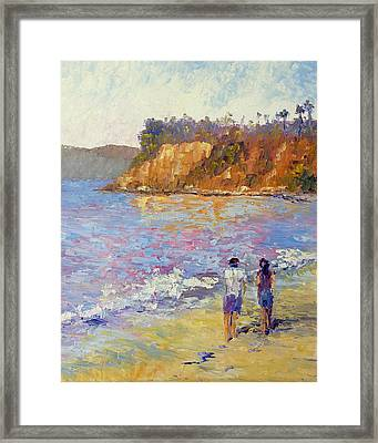 Beach Stroll Framed Print by Terry  Chacon