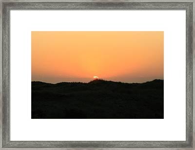 Beach Sunrise Framed Print by Christopher Kirby