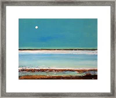 Beach Textures Framed Print by Toni Grote