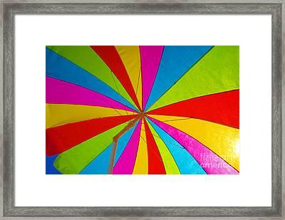 Beach Umbrella Framed Print by David Lee Thompson