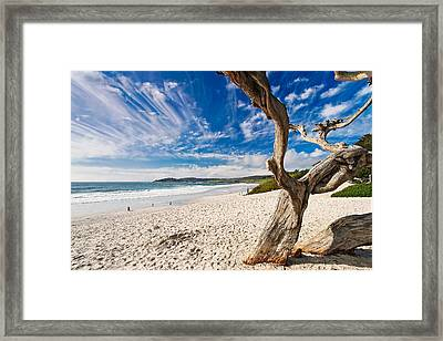 Beach View Carmel By The Sea California Framed Print by George Oze