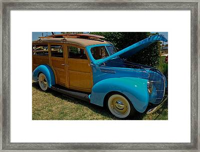 Beach Wagon Framed Print by DigiArt Diaries by Vicky B Fuller