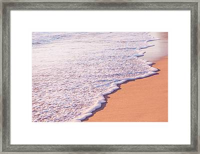 Beach Waves At Sunset  Framed Print by Ariane Moshayedi