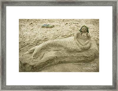 Beached Mermaid Framed Print by Colleen Kammerer