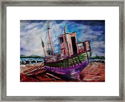 Beached Framed Print by Shelley Bain