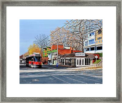 Beacher Cafe Framed Print by Kenneth M  Kirsch
