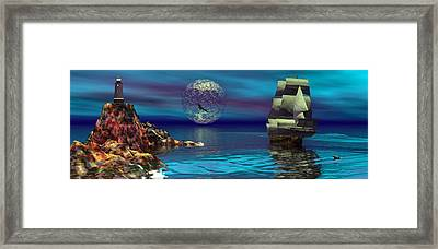 Beacon Of Hope Framed Print by Claude McCoy