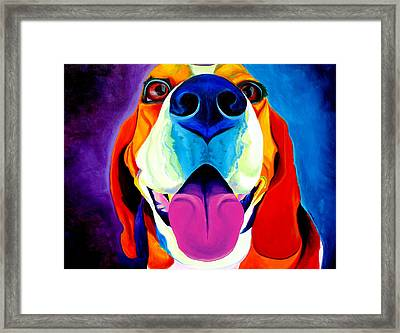 Beagle - Lollipop Framed Print by Alicia VanNoy Call