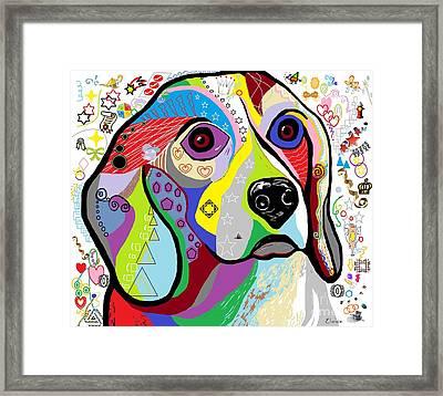 Beagle Framed Print by Eloise Schneider