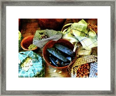 Beans And Seeds Framed Print by Susan Savad