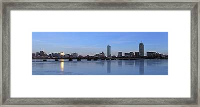 Beantown On Ice Framed Print by Juergen Roth