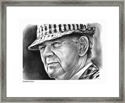 Bear Bryant Framed Print by Greg Joens