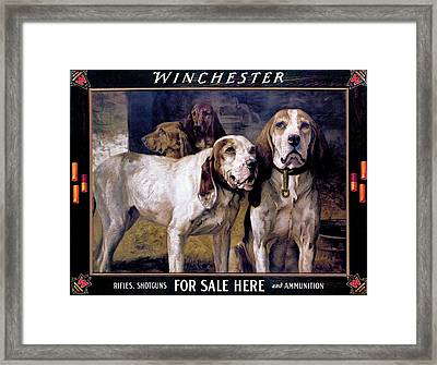 Bear Dogs Framed Print by H R Poore