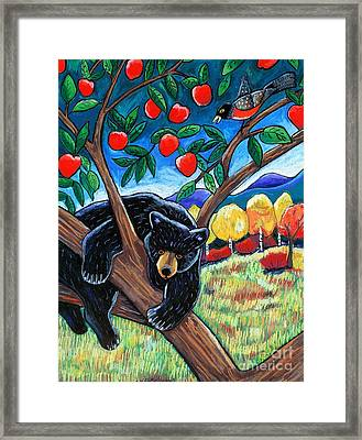 Bear In The Apple Tree Framed Print by Harriet Peck Taylor
