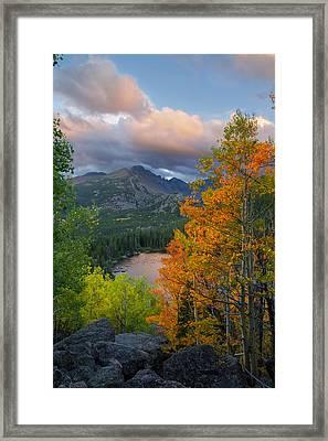Bear Lake Autumn Framed Print by Aaron Spong