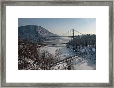 Bear Mountain Bridge Framed Print by Photosbymo