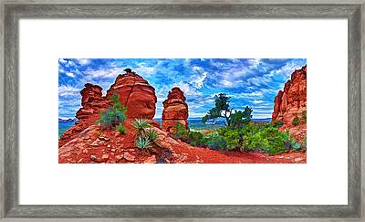 Bear Mountain Hoodoo 3 Framed Print by Bill Caldwell -        ABeautifulSky Photography