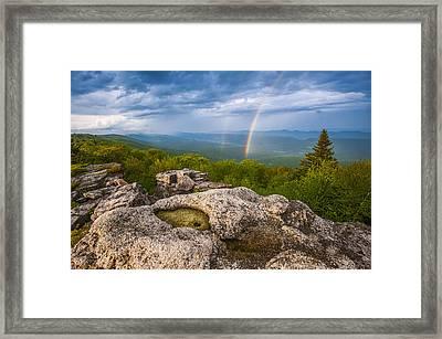 Bear Rocks Rainbow Framed Print by Joseph Rossbach