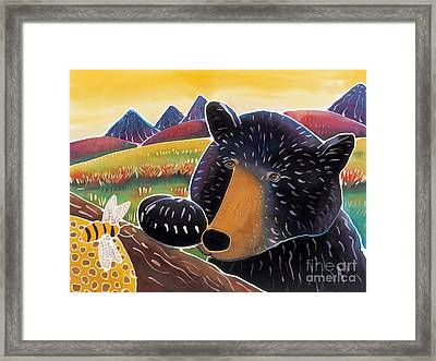 Bear With A Sweet Tooth Framed Print by Harriet Peck Taylor