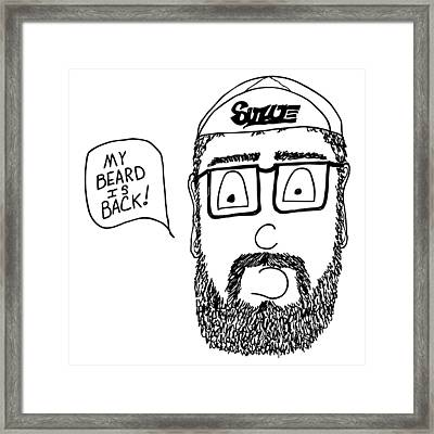 Beard Comic Framed Print by Karl Addison