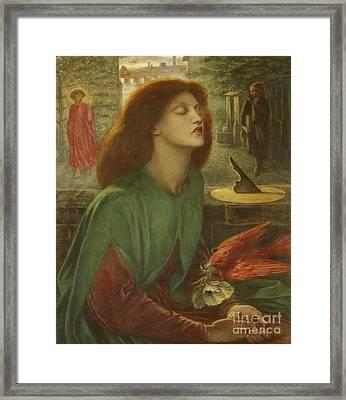 Beata Beatrix Framed Print by Dante Gabriel Charles Rossetti