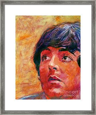 Beatle Paul Framed Print by David Lloyd Glover