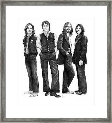 Beatles Drawing Framed Print by Murphy Elliott