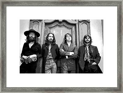 Beatles Together For Last Time Framed Print by Daniel Hagerman