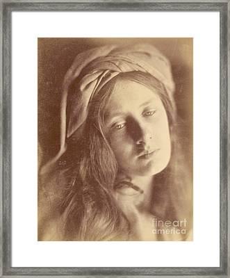 Beatrice Framed Print by Julia Margaret Cameron