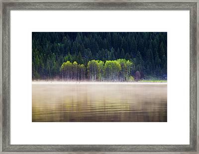 Beautiful And Serene Scene At A Lake In Mccall Idaho Framed Print by Vishwanath Bhat