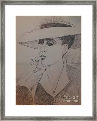 Beautiful Bette Framed Print by N Willson-Strader