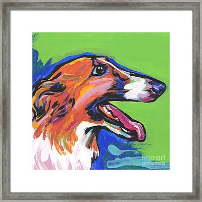 Beautiful Borzoi Framed Print by Lea S
