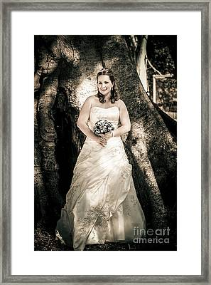 Beautiful Bride At Outback Wedding In Australia Framed Print by Jorgo Photography - Wall Art Gallery