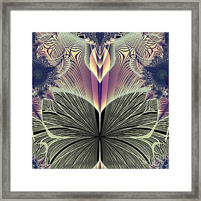 Beautiful Butterfly Ballet Fractal Framed Print by Rose Santuci-Sofranko