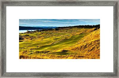 Beautiful Chambers Bay Panorama Framed Print by David Patterson