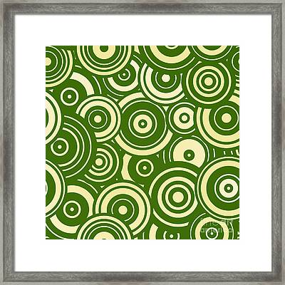 Modern Christmas Mod Circle Pattern Framed Print by Tina Lavoie